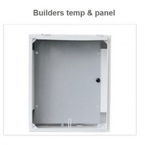 Builders Temporary Box With Full Panel